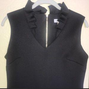 Calvin Klein Sheath Ruffle Neck Dress